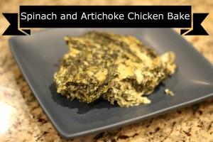 spinach artichoke chicken bake dip dinner fuel pull trim healthy mama