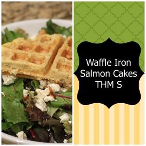waffle iron salmon cake
