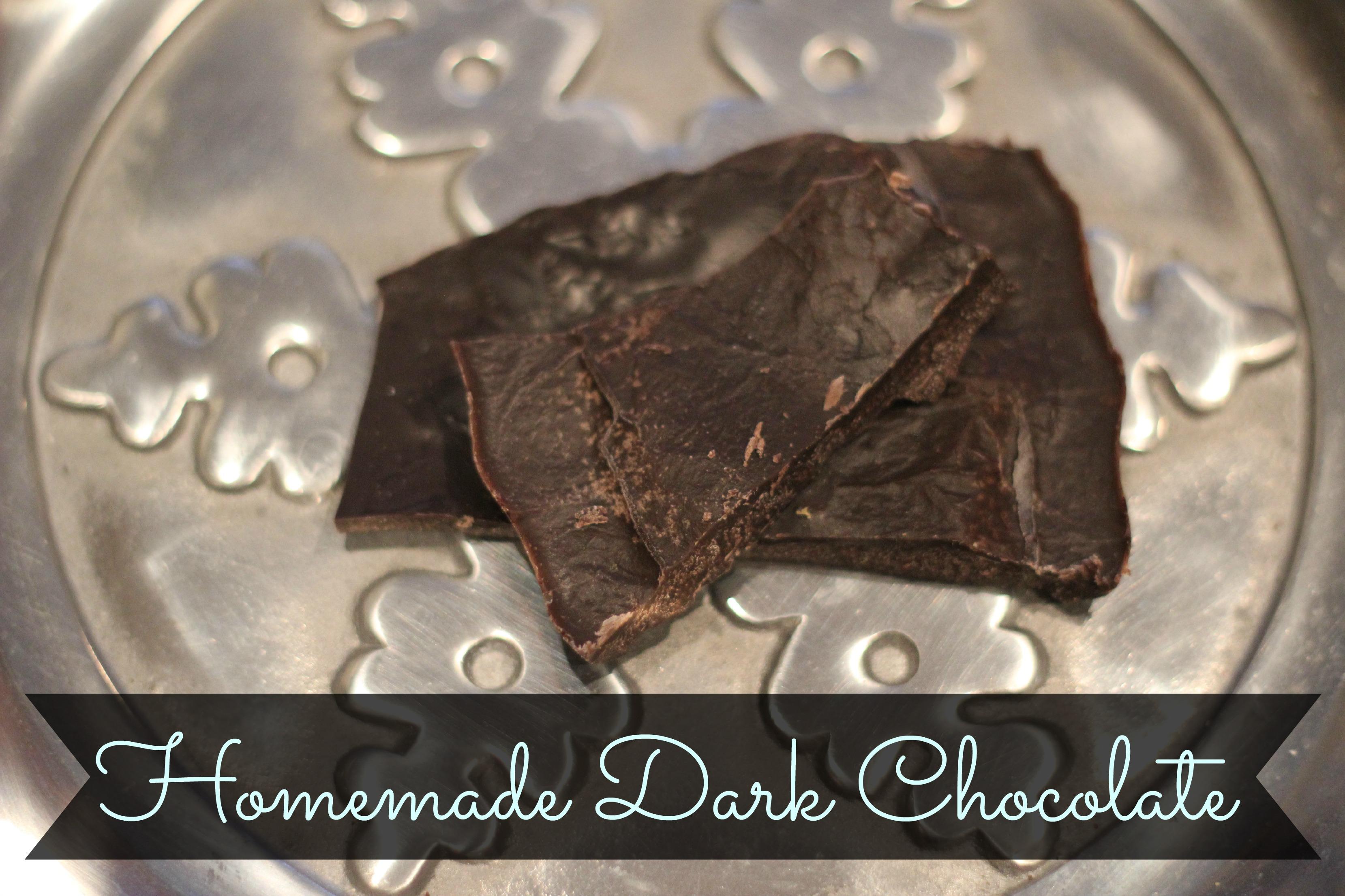 Homemdade dairy Free dark Chocoalte