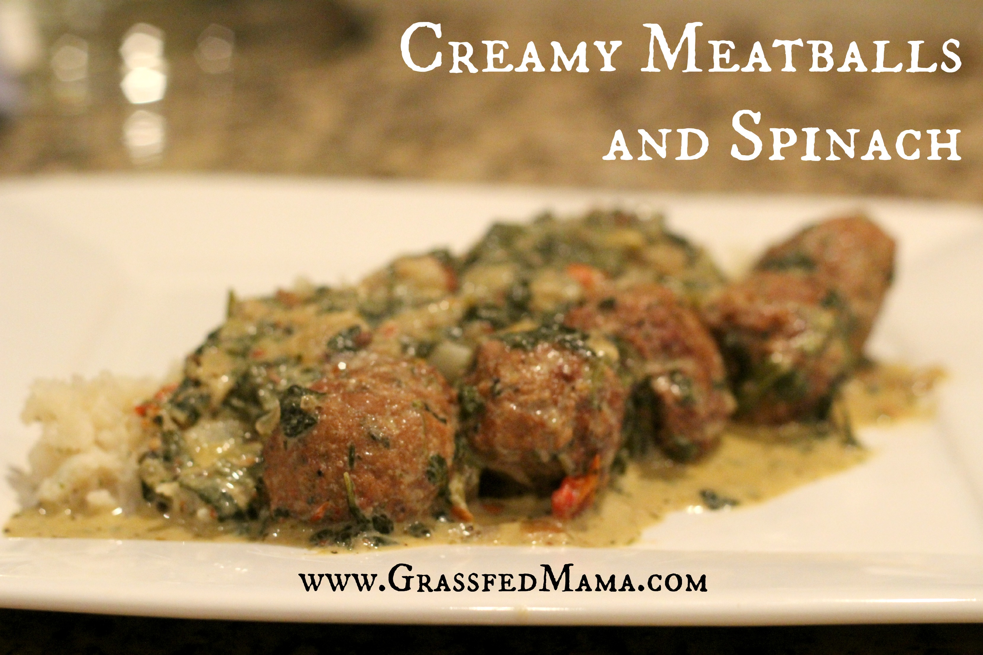Slow Cooker Italian Meatballs and Spinach - Grassfed Mama