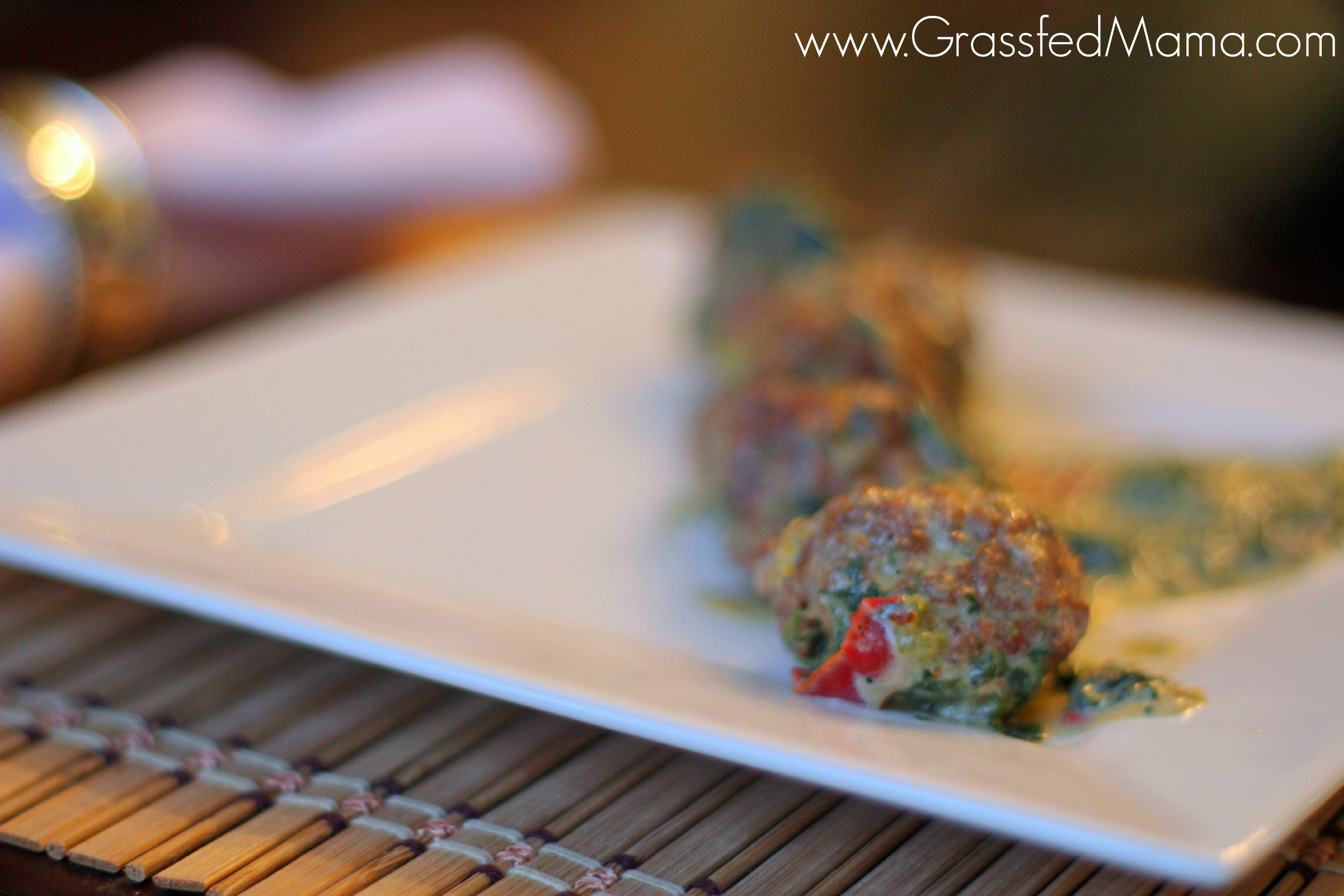 Creamy Spinach and Meatballs