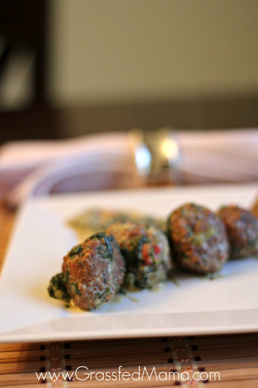 Low Carb Slowcooker Spinach and Meatballs