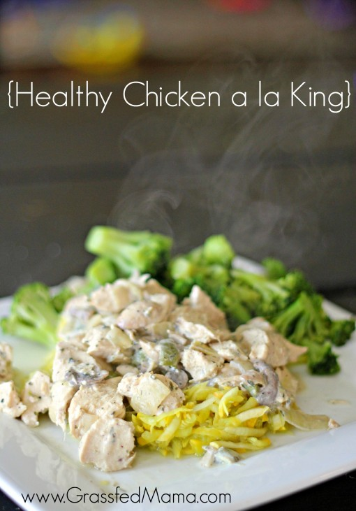 healthy chicken a la king