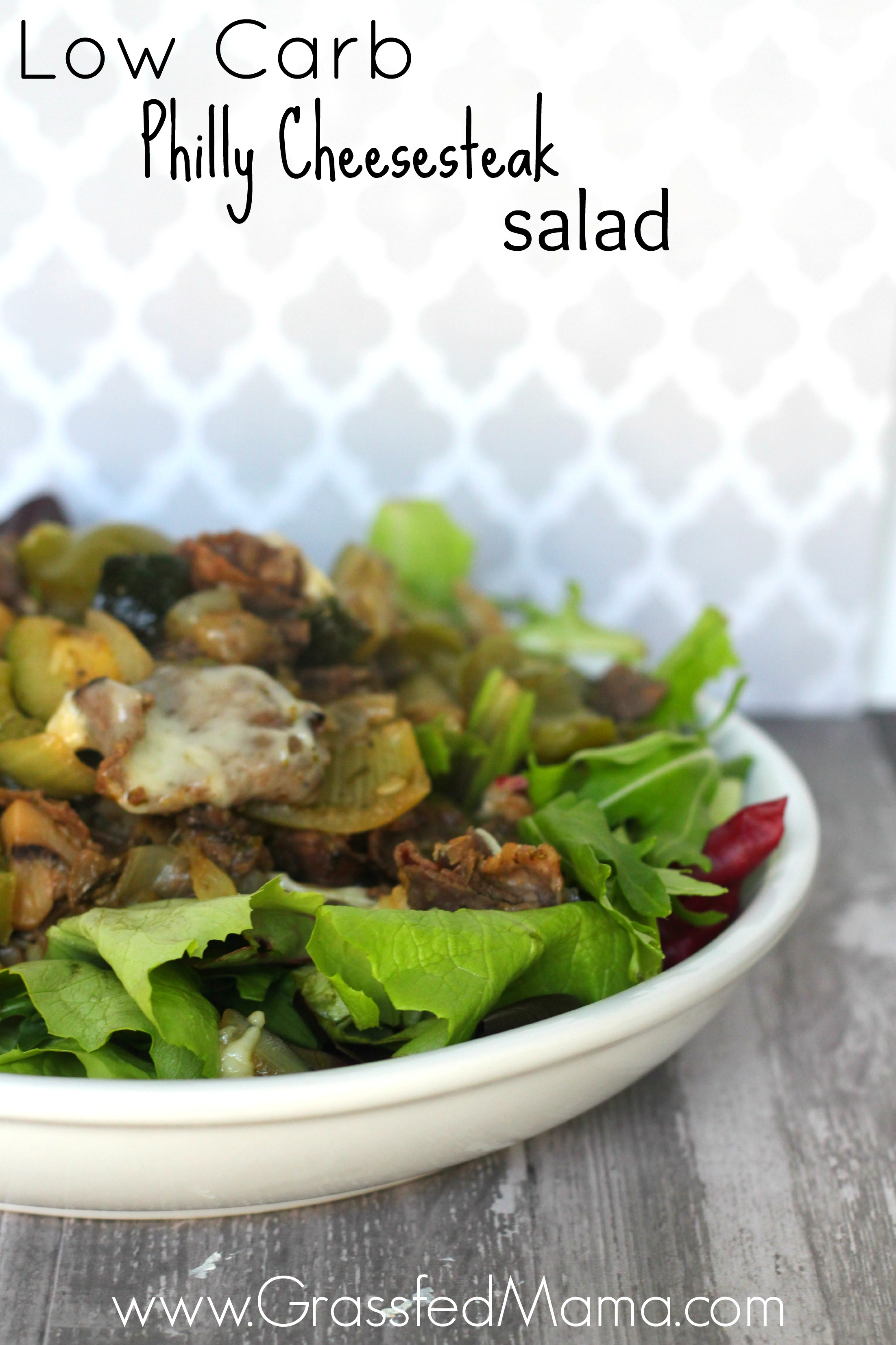 Low Carb Philly cheesesteak salad