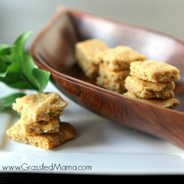 Gluten Free Cheese Crackers | Grassfed Mama