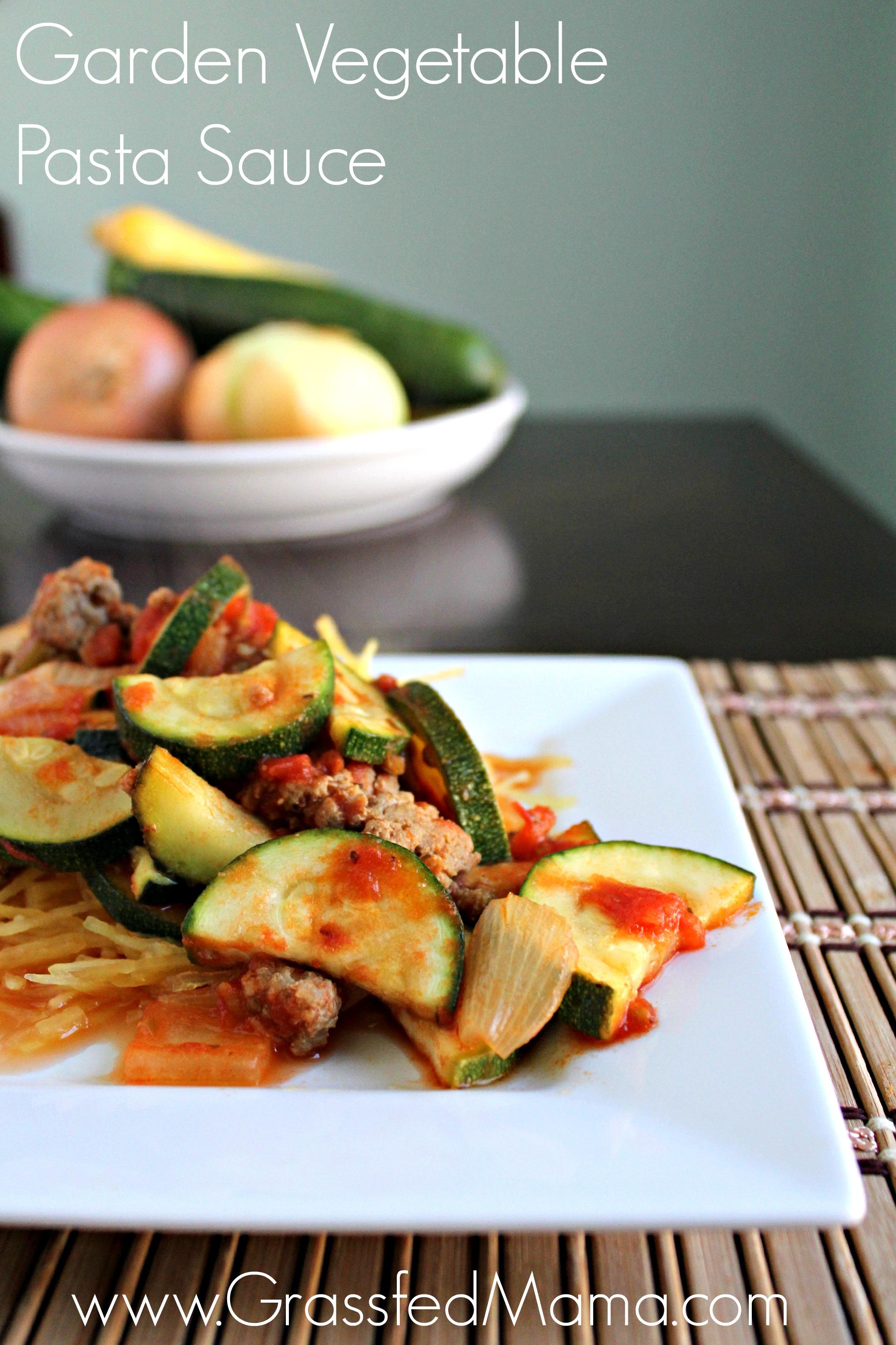 Garden Vegetable Spaghetti Sauce - Grassfed Mama
