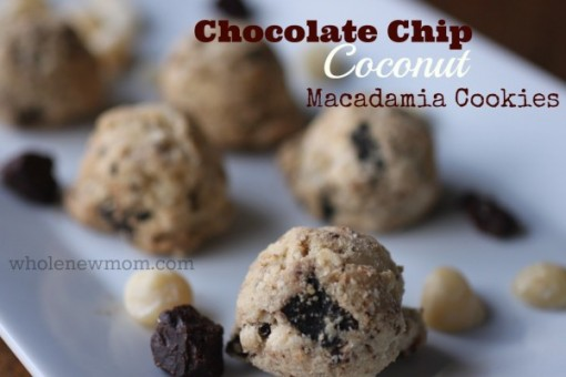 sugar free chocolate coconut macadamia cookies