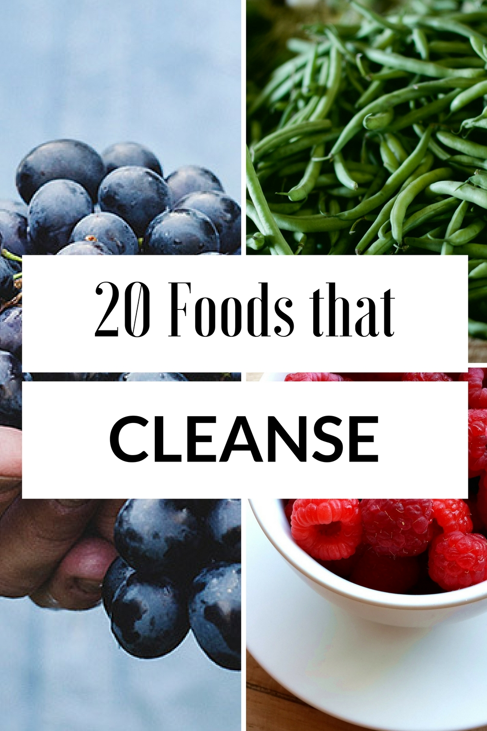 20 foods that Cleanse